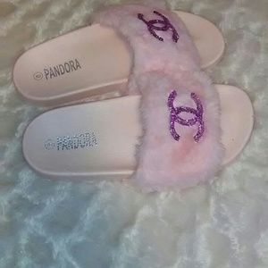 Chocolix Chick Custom Made Fur Slippers